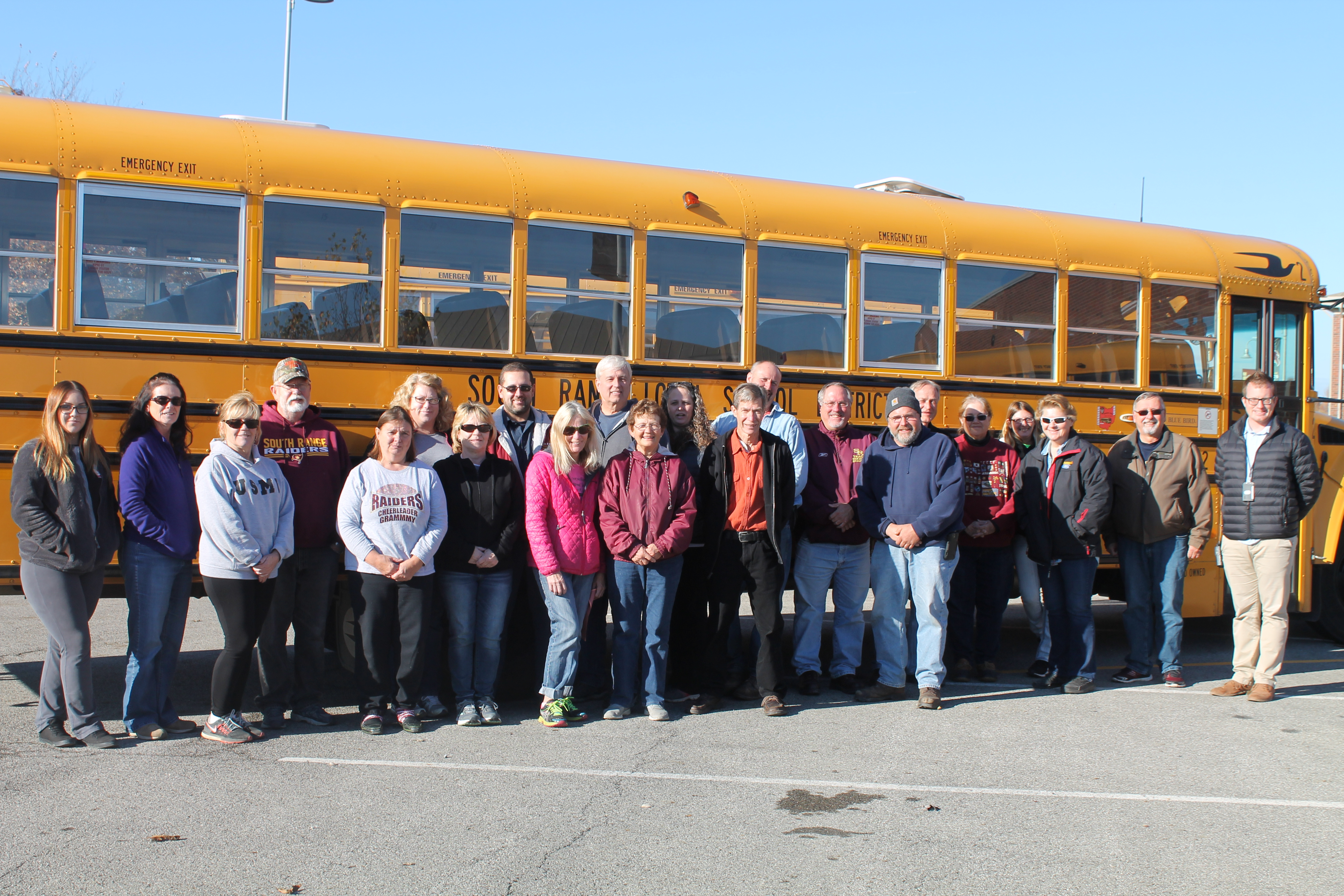 Our wonderful group of transportation professionals here at South Range.